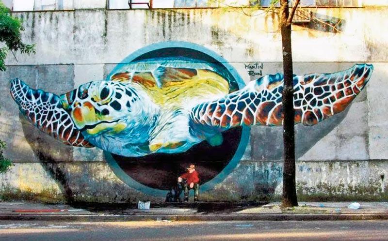 mural tortuga barracas