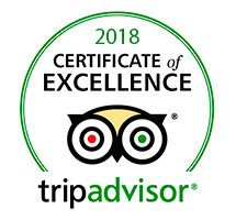 Certificate of Excellence on Trip Advisor