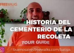 historia del cementerio de la recoleta